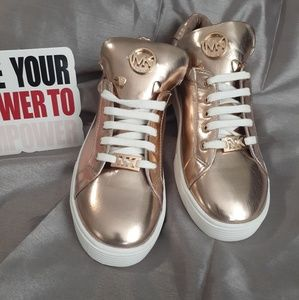 Michael Kors Rose Gold Sneakers Size 3